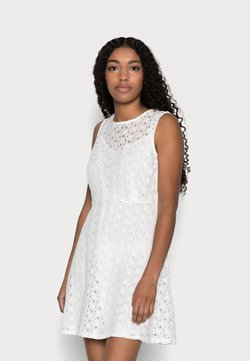 Vero Moda Petite - VMALLIE SHORT DRESS - Cocktail dress / Party dress - snow white