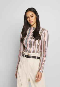 EDITED - JAZMIN LONGSLEEVE - Long sleeved top - rot/beige/blau