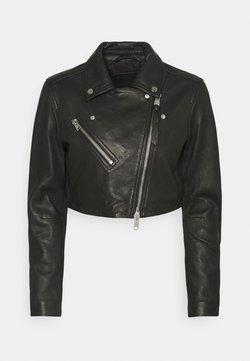 AllSaints - ELORA CROP BIKER - Leather jacket - black