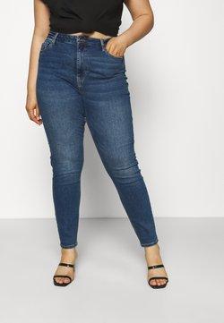 Pieces Curve - PCKESIA MOM - Jeans Skinny - dark blue denim