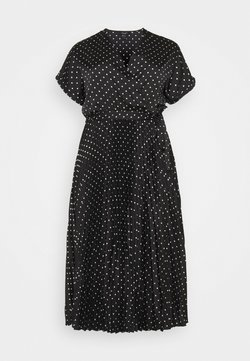 New Look Curves - GO PLEATED SPOT - Day dress - blue