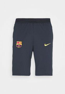 Nike Performance - FC BARCELONA SHORT - Pantalón corto de deporte - dark obsidian/amarillo