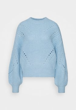 YAS - YASPOWDA - Strikkegenser - powder blue