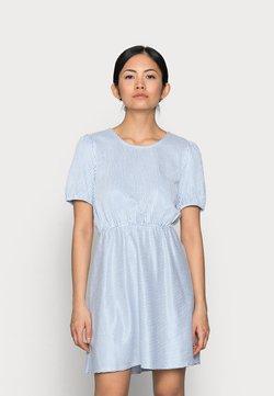 VILA PETITE - VIMILAC O-NECK DRESS - Vestido informal - cashmere blue/cloud dancer