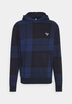 Barbour Beacon - TARTAN HOODIE - Sweatshirt - atlantic blue