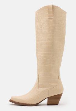 Monki - VEGAN ROXY BOOT - Cowboy/Biker boots - beige dusty light