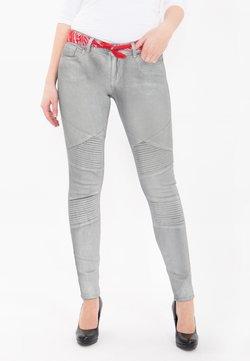 Queen Kerosin - GLANZDRUCK HOLLY - Jeans Skinny Fit - grau