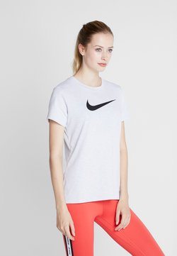Nike Performance - DRY TEE CREW - T-Shirt print - white/black