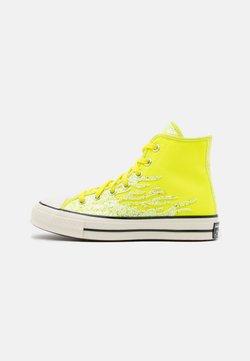 Converse - CHUCK ARCHIVE GLITTER - Sneakersy wysokie - lemon/egret/black