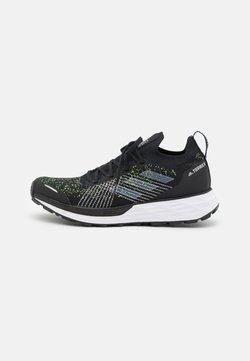 adidas Performance - TERREX TWO PARLEY TRAIL RUNNING - Hikingschuh - core black/footwear white/solar yellow
