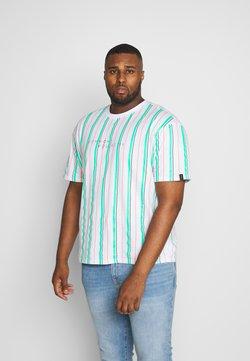 Common Kollectiv - PLUS STRIPED - T-Shirt print - white