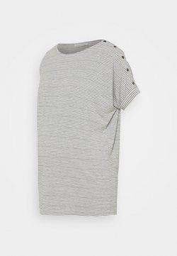 JoJo Maman Bébé - DROP SHOULDER  - T-shirt med print - grey