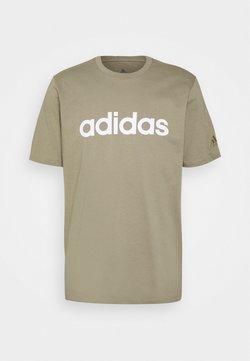 adidas Performance - T-shirt z nadrukiem - orbit green/white