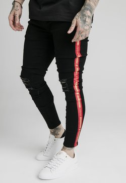 SIKSILK - BURST KNEE - Jeans Skinny Fit - black