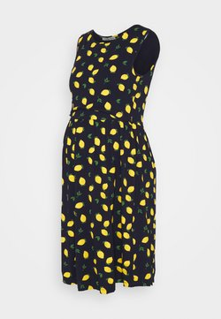 Anna Field MAMA - Jerseykleid - dark blue/yellow