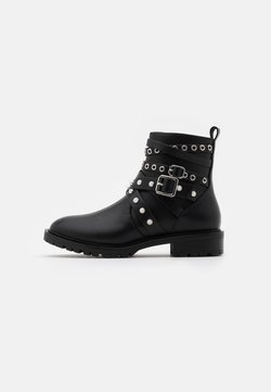 ONLY SHOES - ONLTINA STRAPPY BOOTIE - Cowboy-/Bikerstiefelette - black