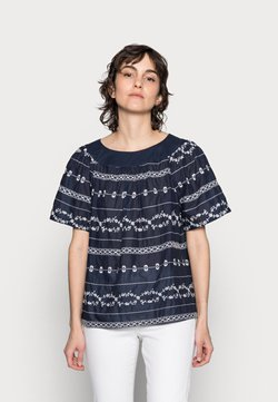 Thought - VALENTINA EMBROIDERED TOP - Bluse - navy