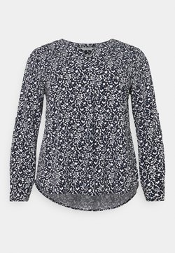 MY TRUE ME TOM TAILOR - BLOUSE WITH PLEAT DETAIL - Bluse - navy flowers and dots