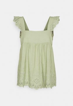 Forever New - LIZA EMBROIDERED BABYDOLL TANK - Top - green