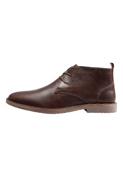Next - LEATHER DESERT BOOT - Schnürer - brown