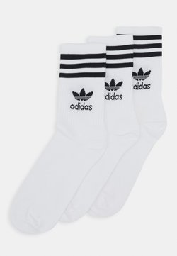 adidas Originals - MID CUT UNISEX 3 PACK - Calcetines - white/black