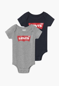 Levi's® - BATWING 2 PACK UNISEX - Body - grey heather/dress blues