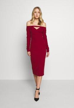 Trendyol - Sukienka koktajlowa - burgundy