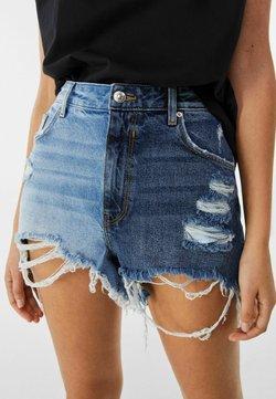 Bershka - Jeans Shorts - dark blue