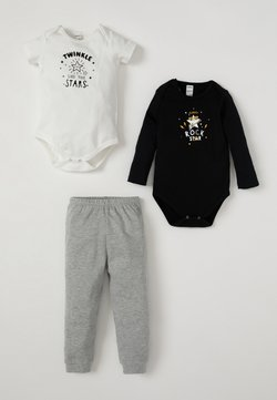 DeFacto - BODY BABYGROW AND TRACKSUIT BOTTOM SET - Body - black