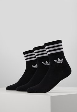 adidas Originals - MID CUT 3 PACK - Socken - black/white