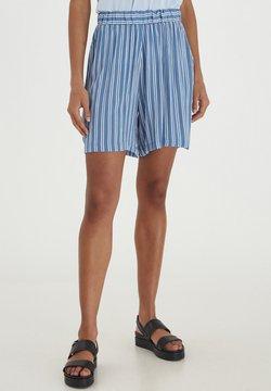 ICHI - Shorts - coronet blue