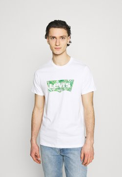 Levi's® - HOUSEMARK GRAPHIC TEE UNISEX - Camiseta estampada - fill white