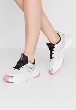 Puma - RISE CONTRAST  - Sneaker low - white/purple heather/sunny lime