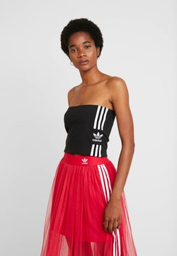adidas Originals - 3STRIPES ADICOLOR TUBE - Top - black/white
