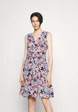 Lauren Ralph Lauren - ELNA SLEEVELESS DAY DRESS - Korte jurk - light navy/pink/multi