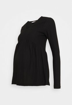 MAMALICIOUS - MLCILLE SOLID - Camiseta de manga larga - black