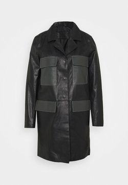 STUDIO ID - PAULINE CONTRAST POCKET COAT - Leren jas - black