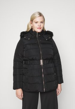 New Look Curves - ELLIE BELTED FITTED PUFFER - Wintermantel - black