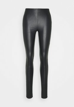 JUST FEMALE - NEX - Leather trousers - black