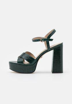 Office - HIGHLIGHT CROSS STRAP PLATFORM  - Korkeakorkoiset sandaalit - green
