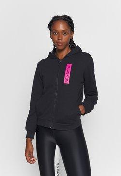 Calvin Klein Performance - FULL ZIP HOODY - Collegetakki - black