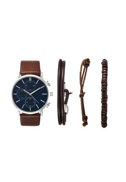 Pier One - SET - Montre - cognac