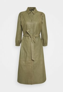 Bruuns Bazaar - PETRAH ZIA DRESS - Robe chemise - deep olive