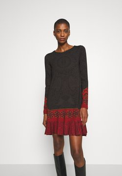 Desigual - NAGOYA - Freizeitkleid - anthrazite/dark red
