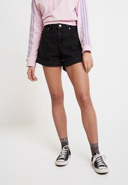 Monki - TALLIE  - Jeansshort - washed black