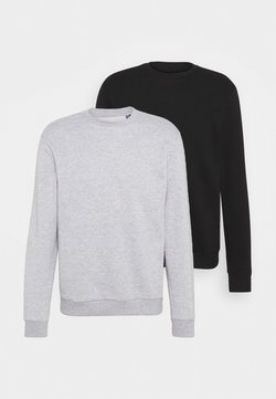 Only & Sons - ONSCERES LIFE CREW NECK 2 PACK - Sweatshirt - black