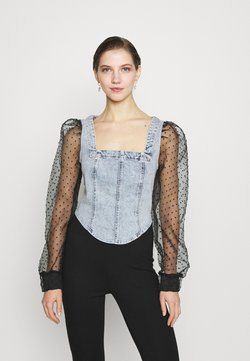 River Island - PACK DOBBY TOP - Bluzka - grey