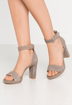 Anna Field - LEATHER - High heeled sandals - grey
