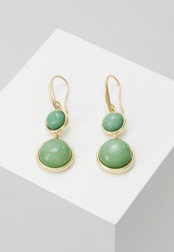 SNÖ of Sweden - AGATHA PENDANT EAR - Earrings - gold-coloured/green