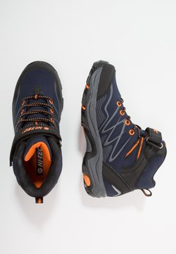 Hi-Tec - BLACKOUT MID WP JR - Outdoorschoenen - navy/orange